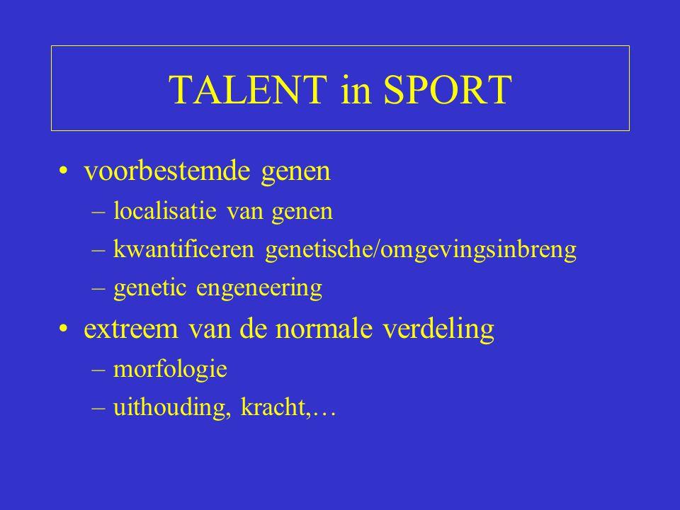 OVERHEID topsportklimaat (medailles!!) Investeringen in topsport –talentdetectie –medisch/wetenschappelijke begeleiding –tewerkstelling Preventie (medisch verantwoord sporten)