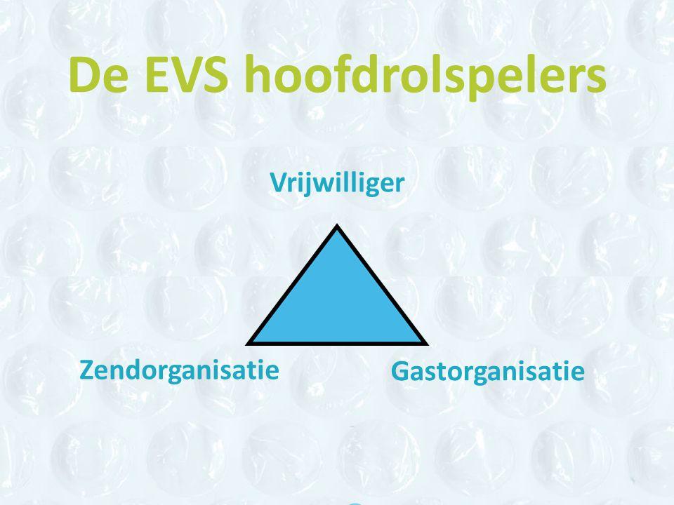 De EVS hoofdrolspelers Vrijwilliger Zendorganisatie Gastorganisatie