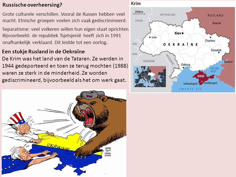 Russische overheersing.Grote culturele verschillen.