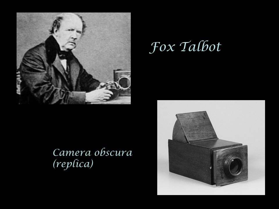 Fox Talbot Camera obscura (replica)