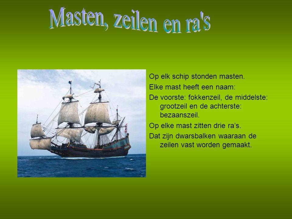 Er waren verschillende mensen aan boord: de kapitein, de kok en het koksmaatje, een bottelier en een botteliermaatje, de scheepsjongens en de koopman.