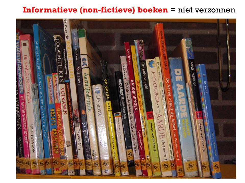 Informatieve (non-fictieve) boeken = niet verzonnen