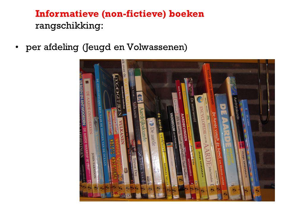 per afdeling (Jeugd en Volwassenen) Informatieve (non-fictieve) boeken rangschikking: