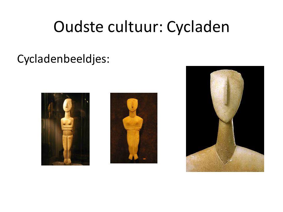 Oudste cultuur: Cycladen Cycladenbeeldjes: