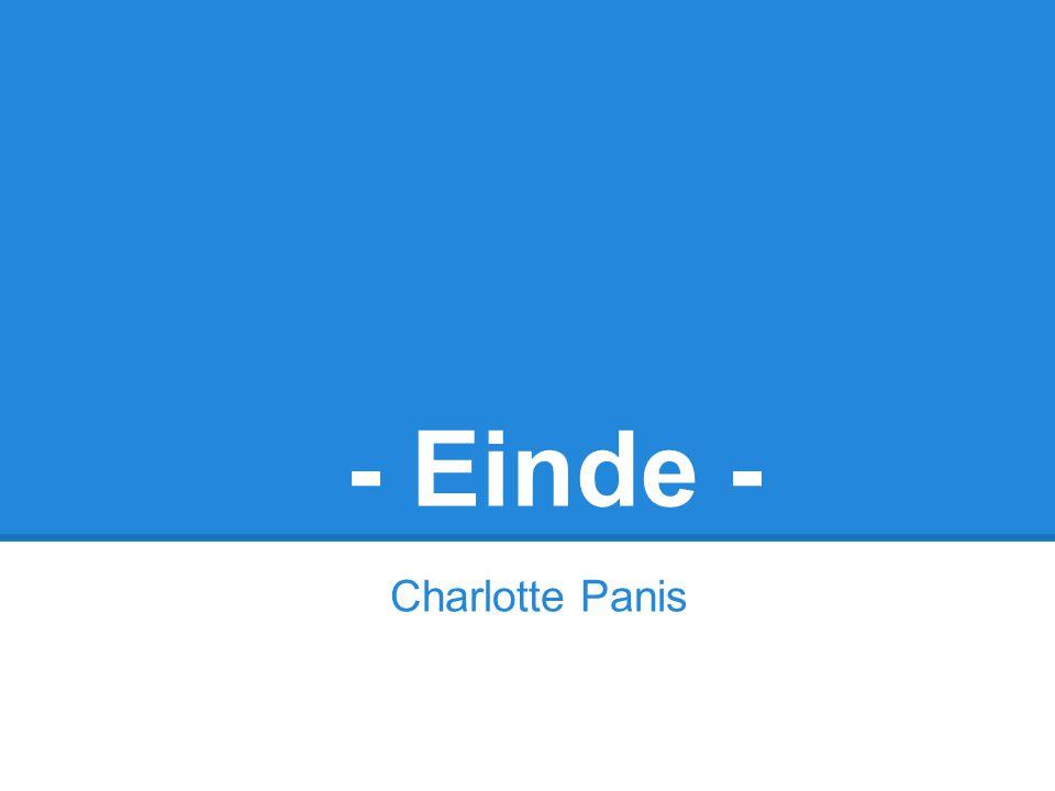- Einde - Charlotte Panis