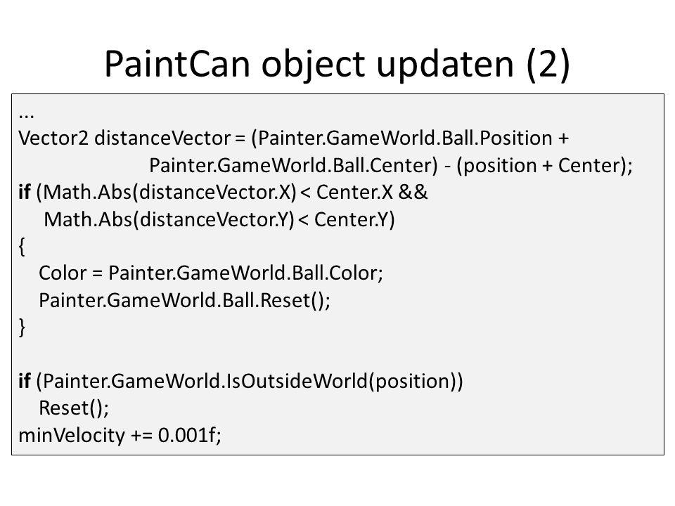PaintCan object updaten (2)...