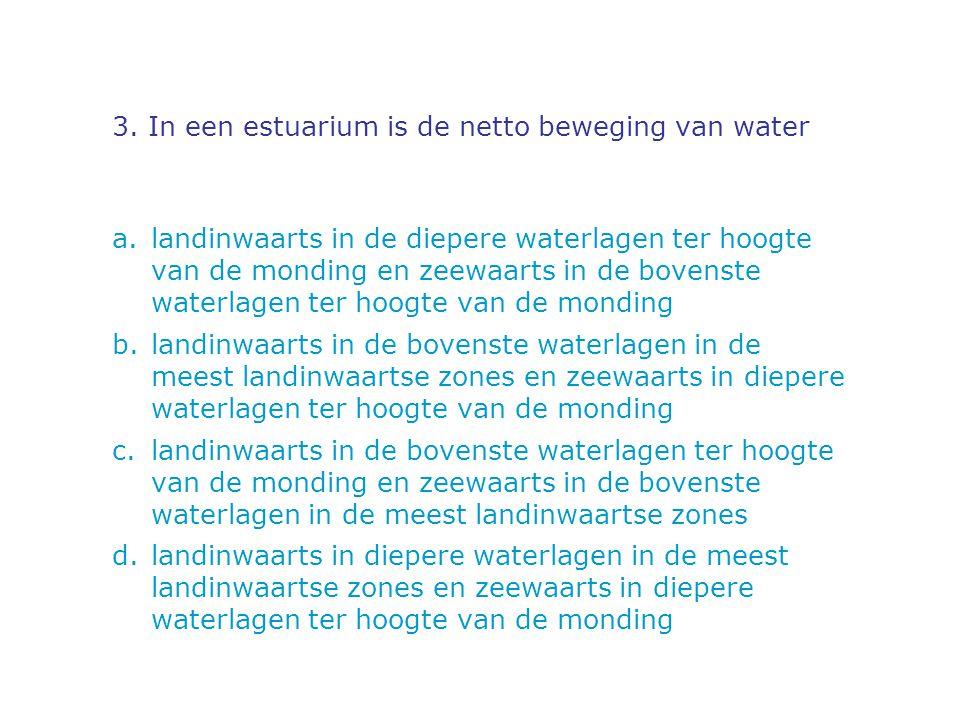 4.Het leven in water. Welke van deze uitspraken is/zijn juist .