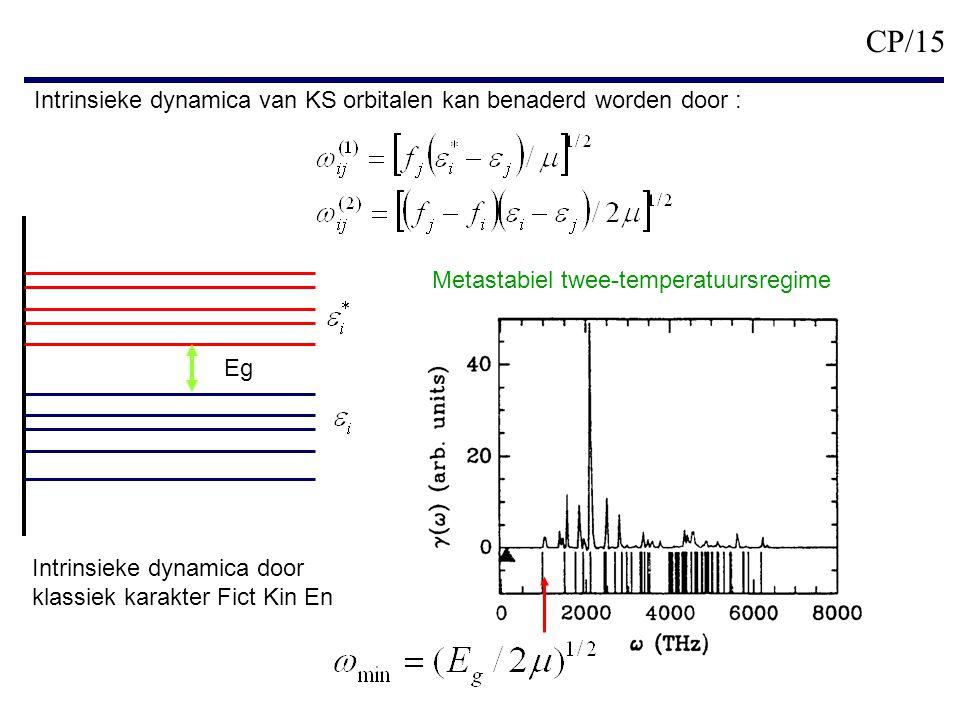 Eg Intrinsieke dynamica door klassiek karakter Fict Kin En Metastabiel twee-temperatuursregime CP/15