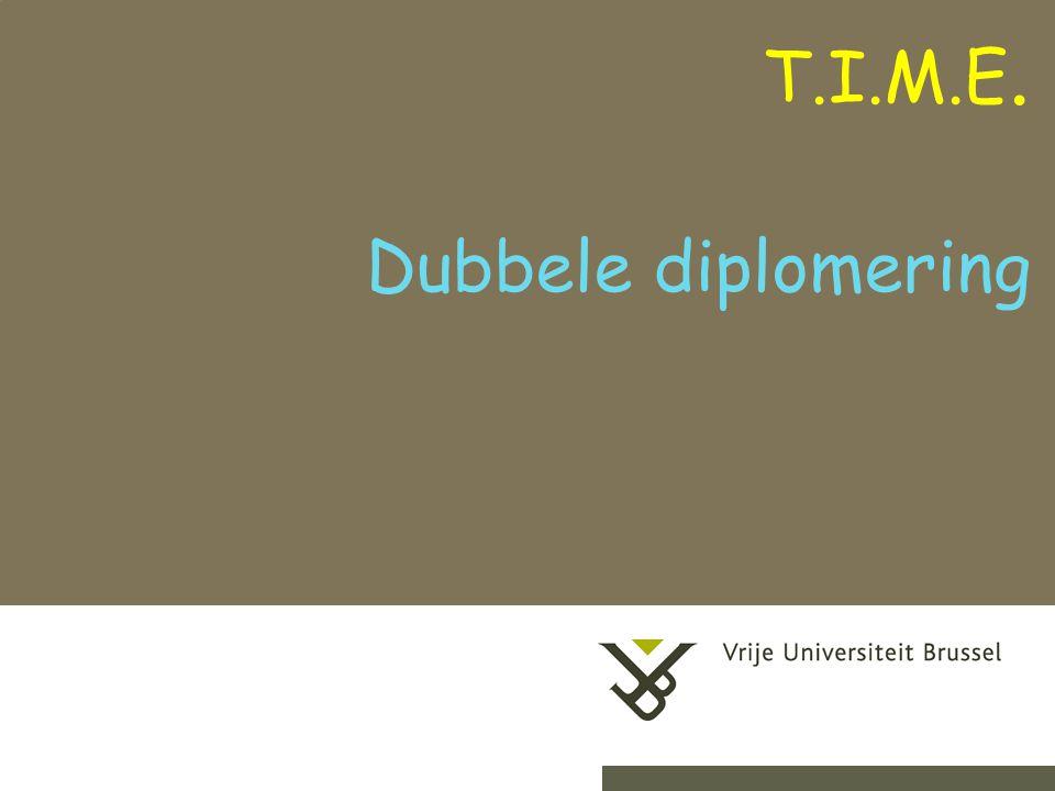 2-9-20141Herhaling titel van presentatie Dubbele diplomering T.I.M.E.