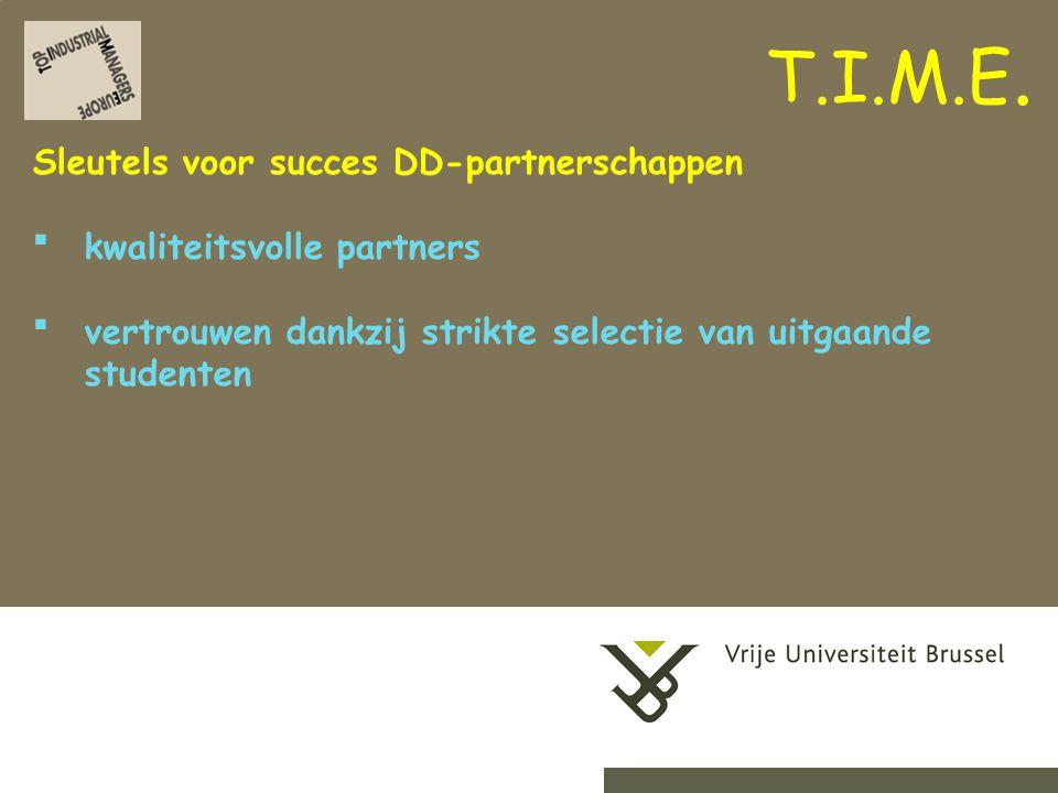 2-9-201415Herhaling titel van presentatie Sleutels voor succes DD-partnerschappen kwaliteitsvolle partners vertrouwen dankzij strikte selectie van uitgaande studenten T.I.M.E.
