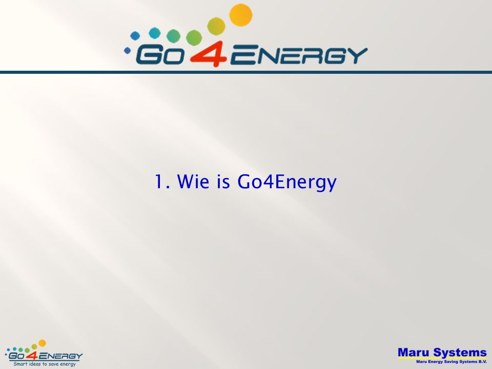 1. Wie is Go4Energy