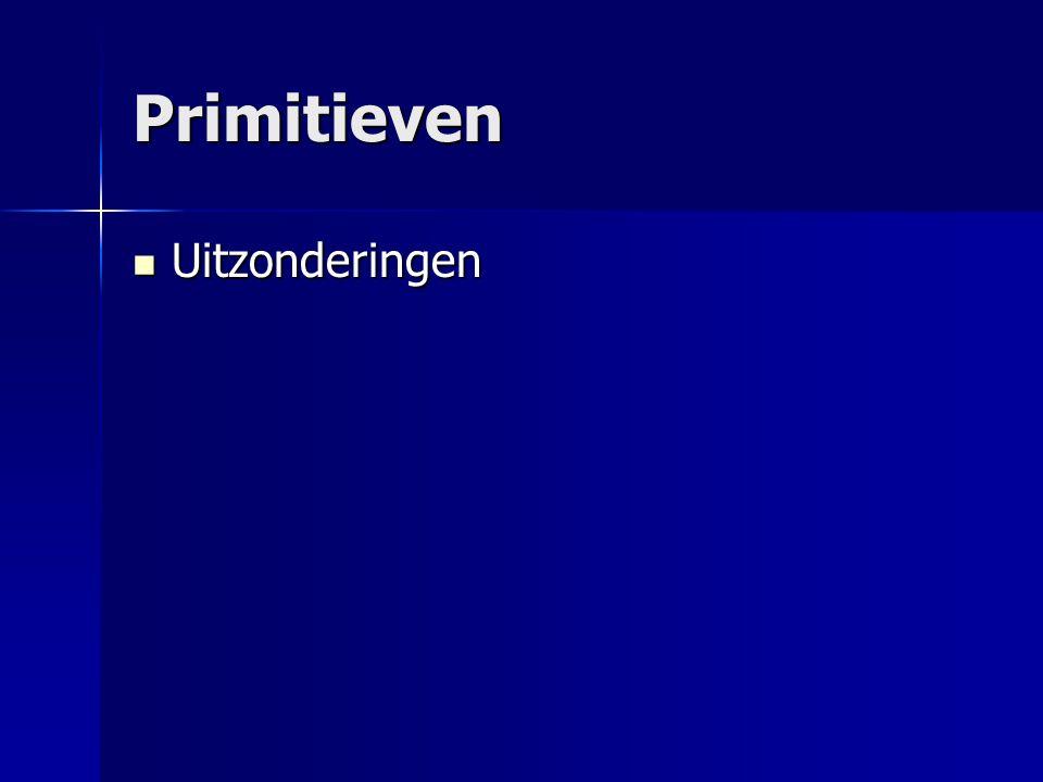 Primitieven Voorgeprogrammeerd Voorgeprogrammeerd