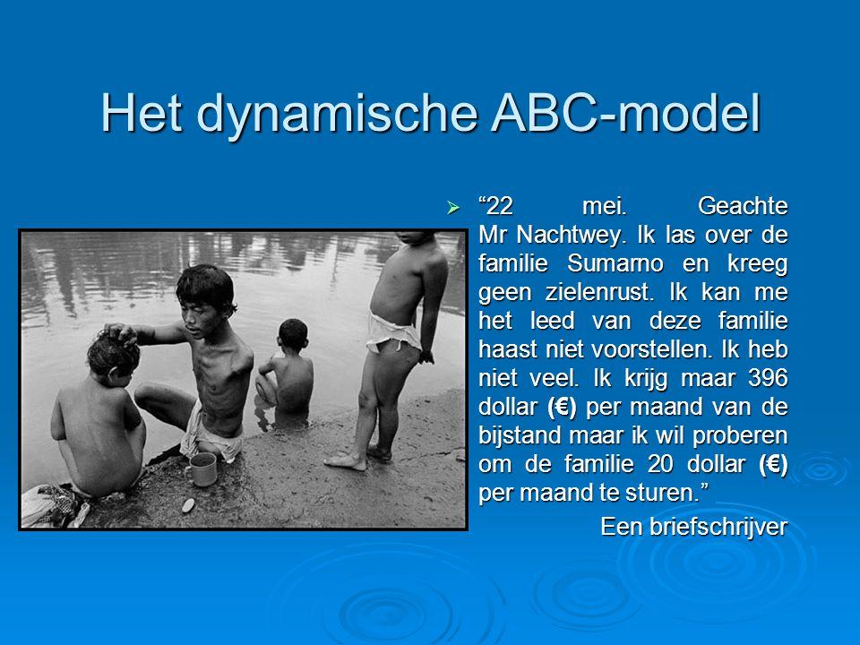 """Het dynamische ABC-model  """"22 mei. Geachte Mr Nachtwey. Ik las over de familie Sumarno en kreeg geen zielenrust. Ik kan me het leed van deze familie"""