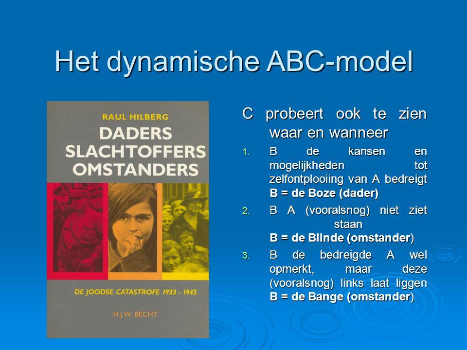Het dynamische ABC-model C probeert ook te zien waar en wanneer 1.