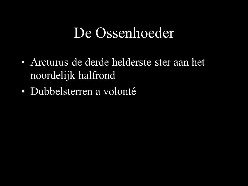De Ossenhoeder Arcturus de derde helderste ster aan het noordelijk halfrond Dubbelsterren a volonté