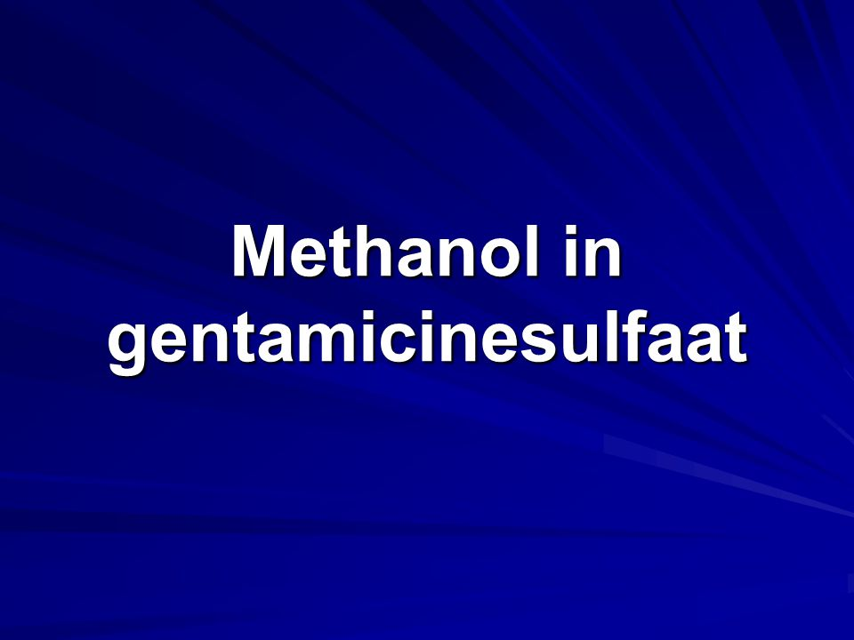 Antibioticum Methanol max. 1,0%
