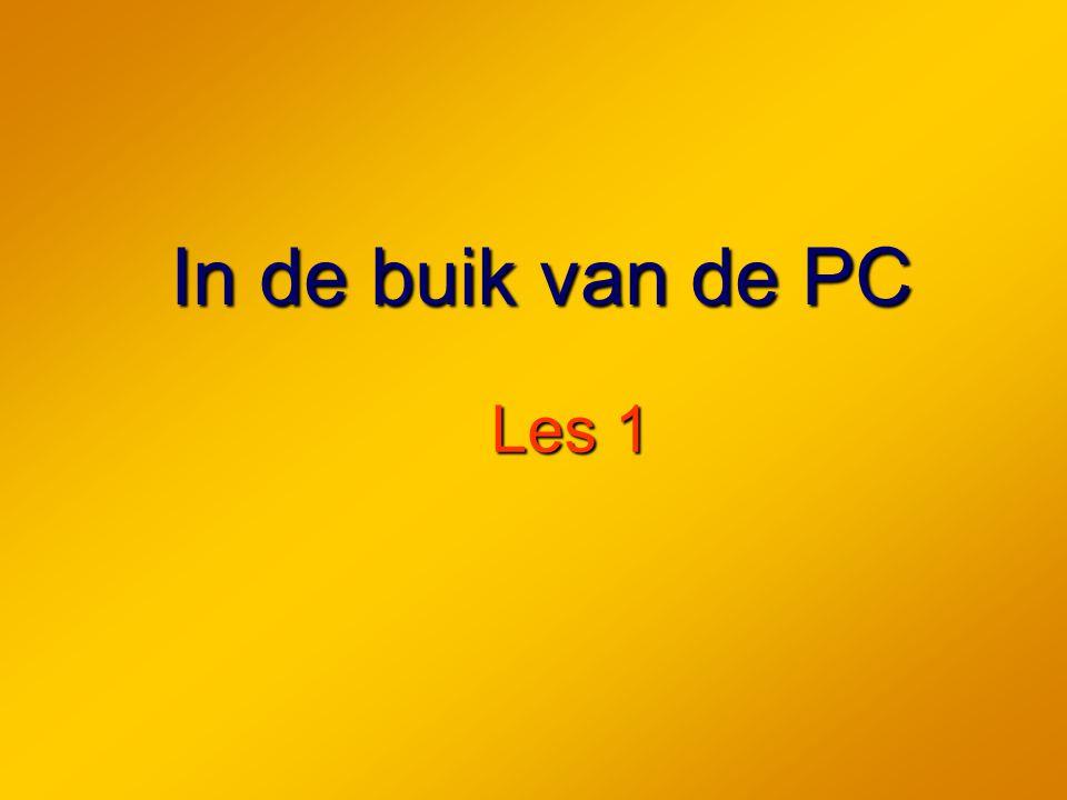 In de buik van de PC Les 1