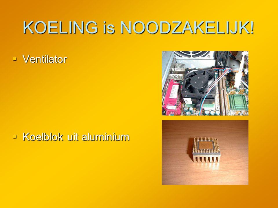 KOELING is NOODZAKELIJK!  Ventilator  Koelblok uit aluminium
