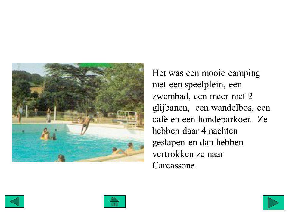 Het was een mooie camping met een speelplein, een zwembad, een meer met 2 glijbanen, een wandelbos, een café en een hondeparkoer.