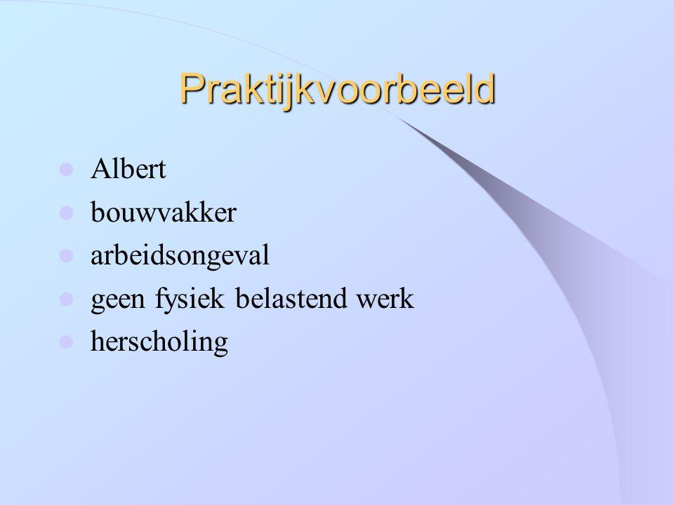 Praktijkvoorbeeld Albert bouwvakker arbeidsongeval geen fysiek belastend werk herscholing