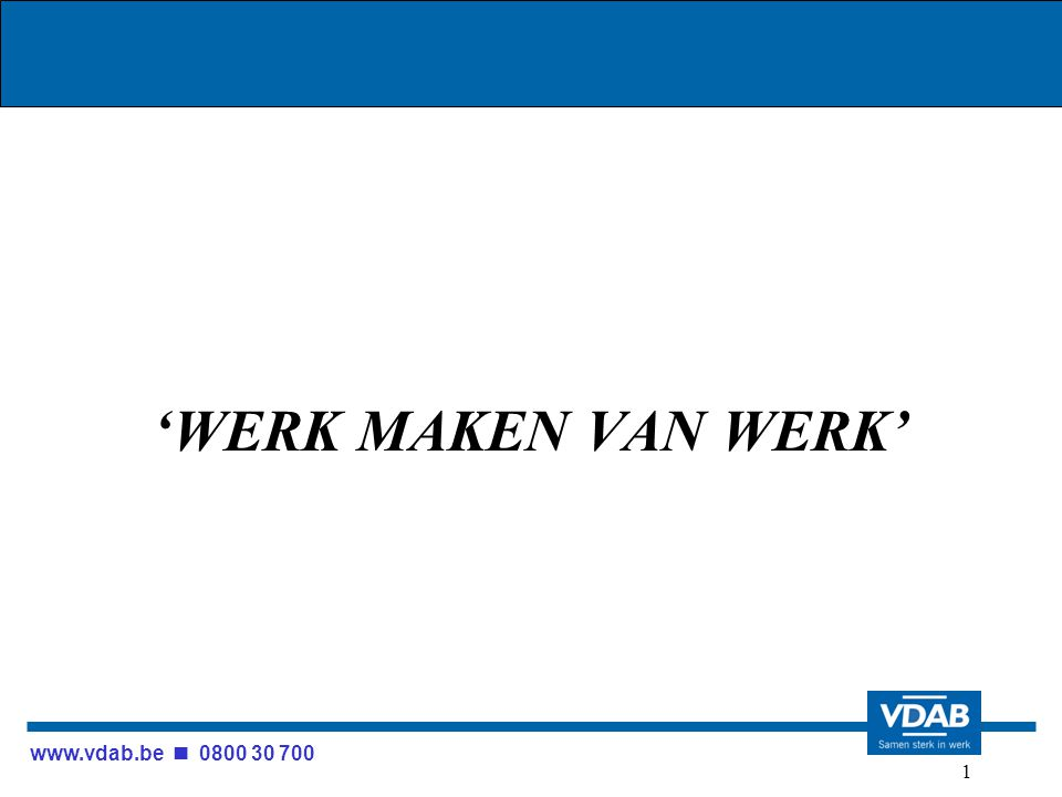 www.vdab.be 0800 30 700 122 TOP 10-vacatures (incl.