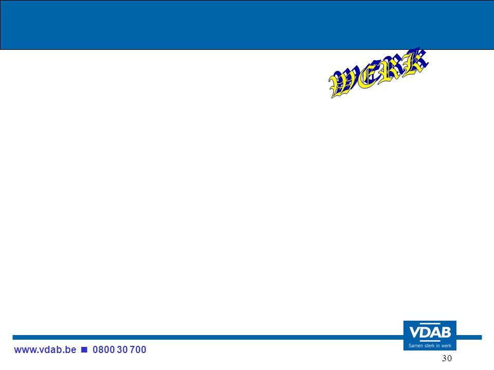 www.vdab.be 0800 30 700 30