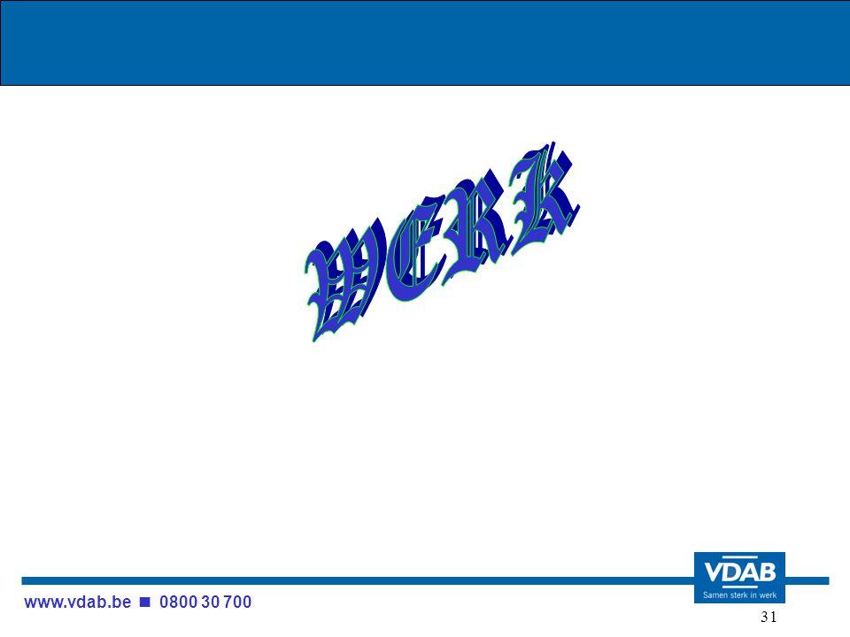 www.vdab.be 0800 30 700 31