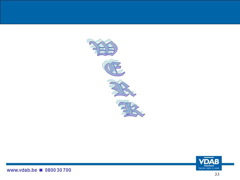 www.vdab.be 0800 30 700 33