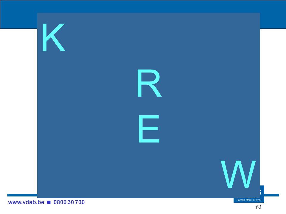 www.vdab.be 0800 30 700 63 KREWKREW