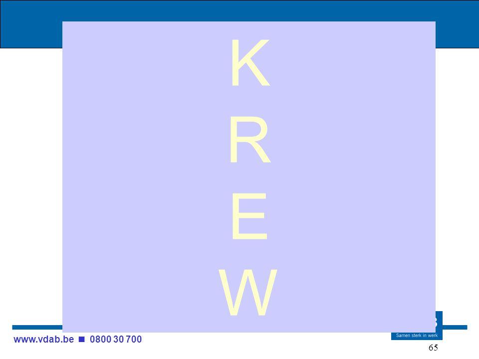 www.vdab.be 0800 30 700 65 KREWKREW