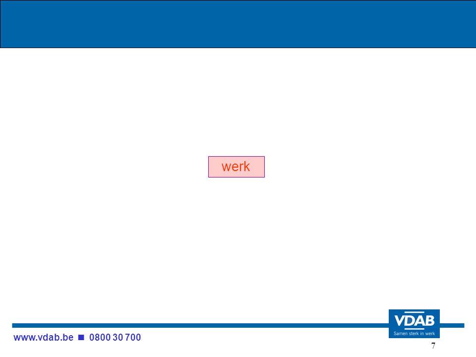 www.vdab.be 0800 30 700 7 werk