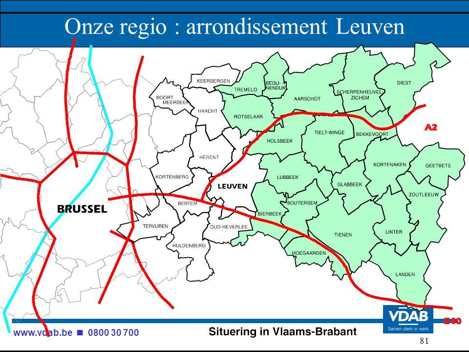 www.vdab.be 0800 30 700 81 Onze regio : arrondissement Leuven