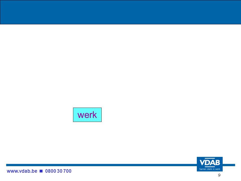 www.vdab.be 0800 30 700 9 werk
