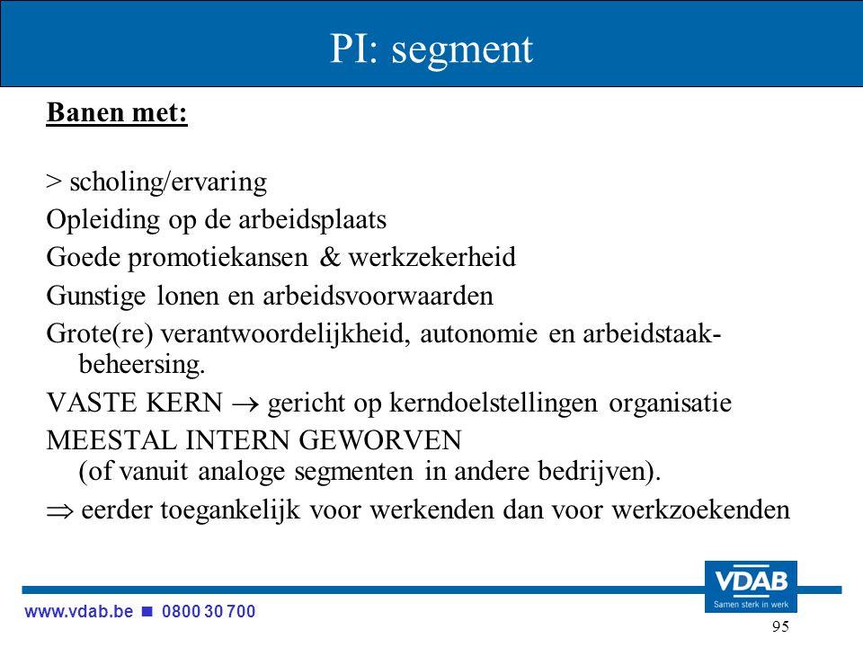 www.vdab.be 0800 30 700 95 PI: segment Banen met: > scholing/ervaring Opleiding op de arbeidsplaats Goede promotiekansen & werkzekerheid Gunstige lone