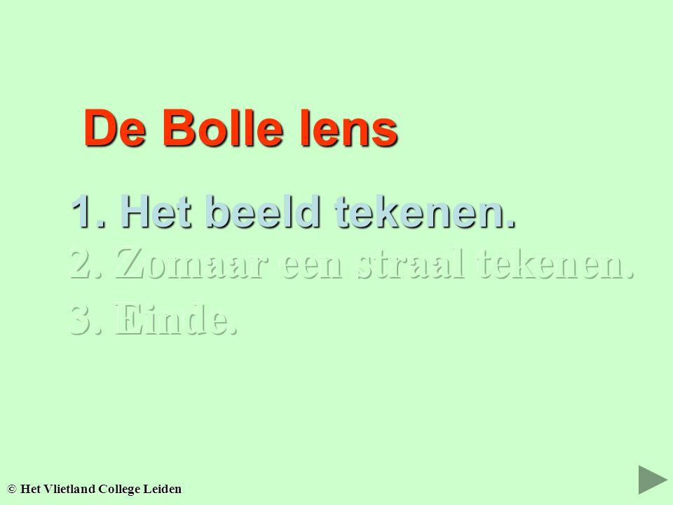 De Bolle lens De Bolle lens 1.Het beeld tekenen. 2.