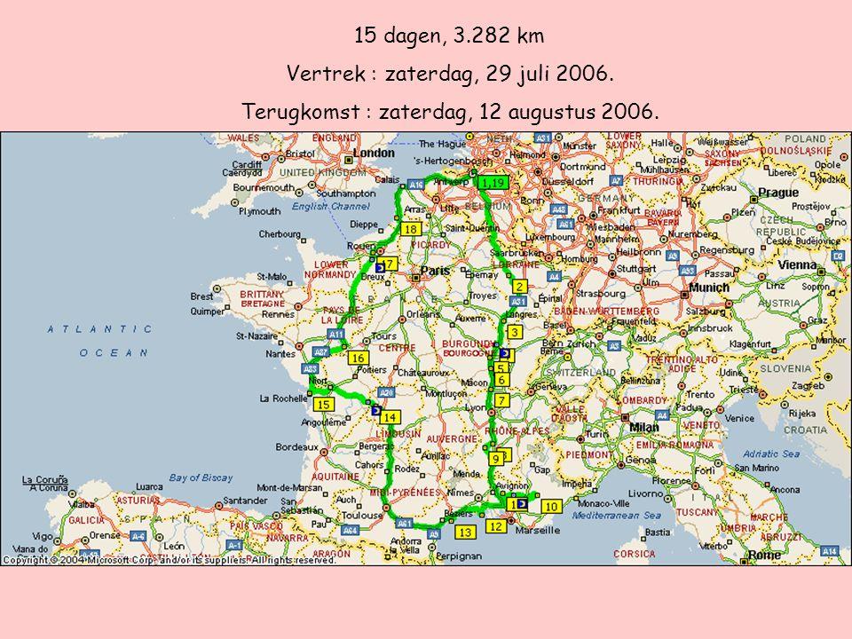 Dag 1 (29/07/06) : Van Ekeren naar Saint-Mihiel (Meurthe-et-Moselle) +/- 382 km.