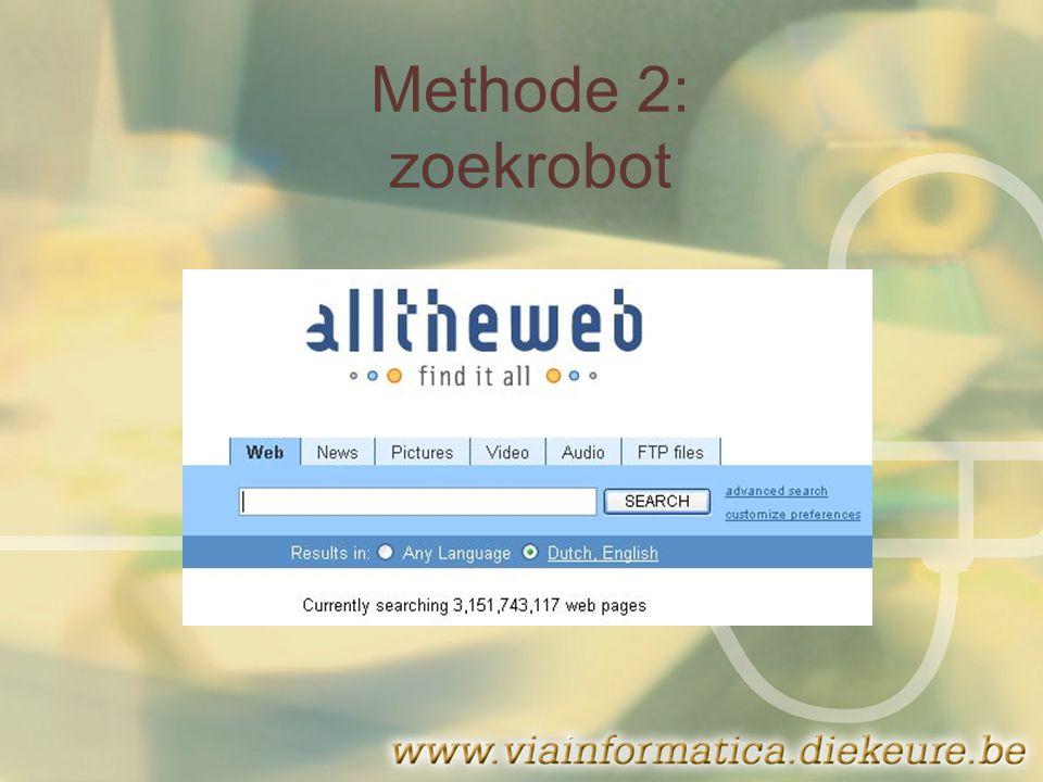 Methode 2: zoekrobot