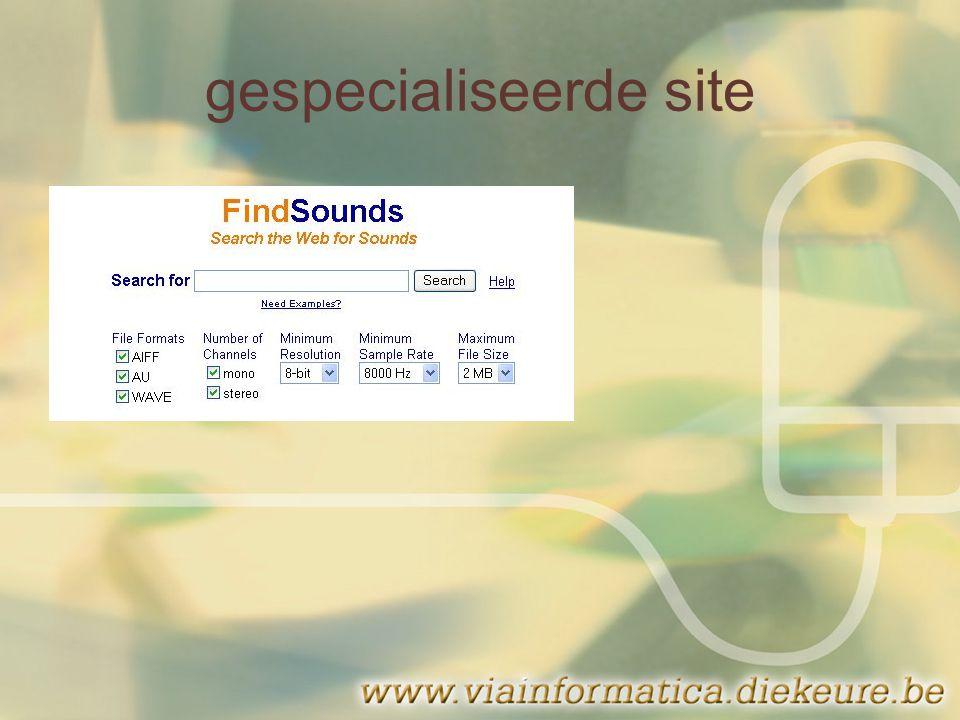 gespecialiseerde site
