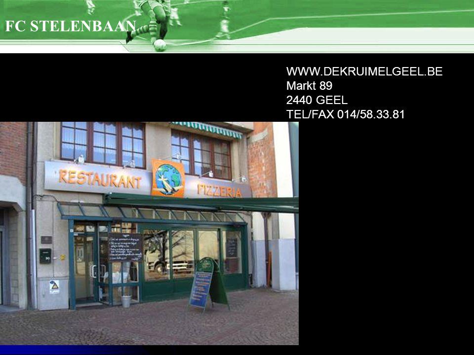 WWW.DEKRUIMELGEEL.BE Markt 89 2440 GEEL TEL/FAX 014/58.33.81