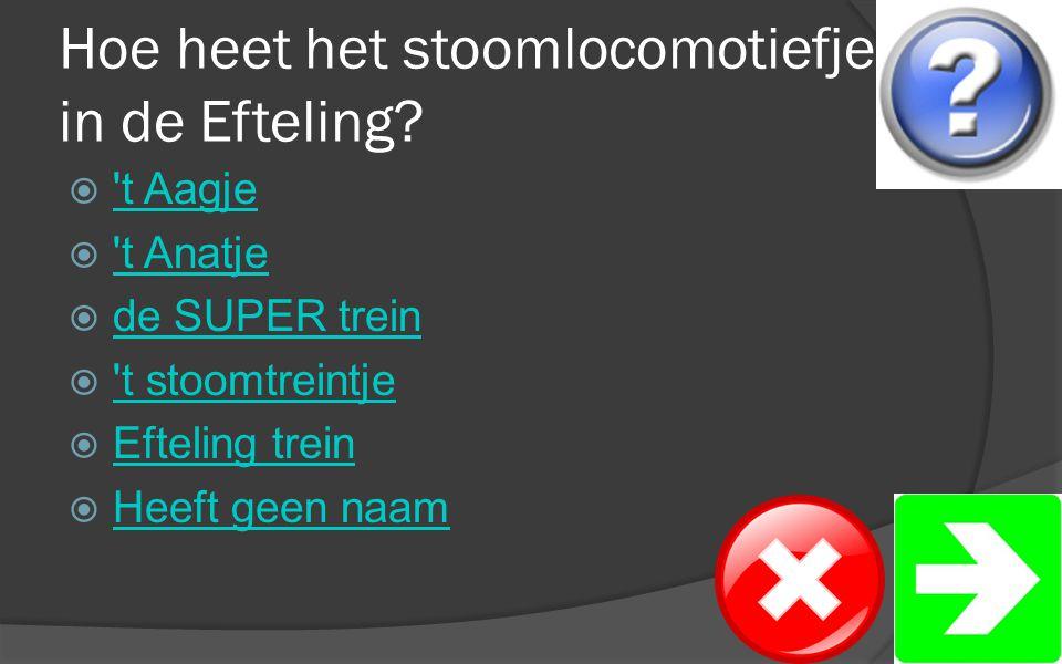 Hoe heet het stoomlocomotiefje in de Efteling.
