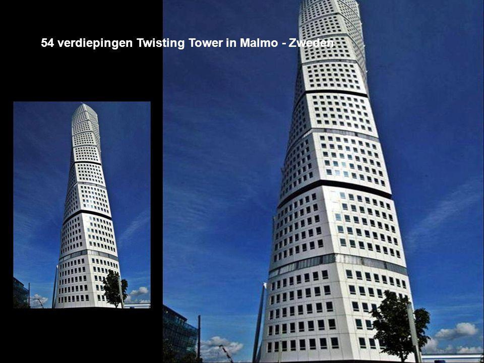 54 verdiepingen Twisting Tower in Malmo - Zweden