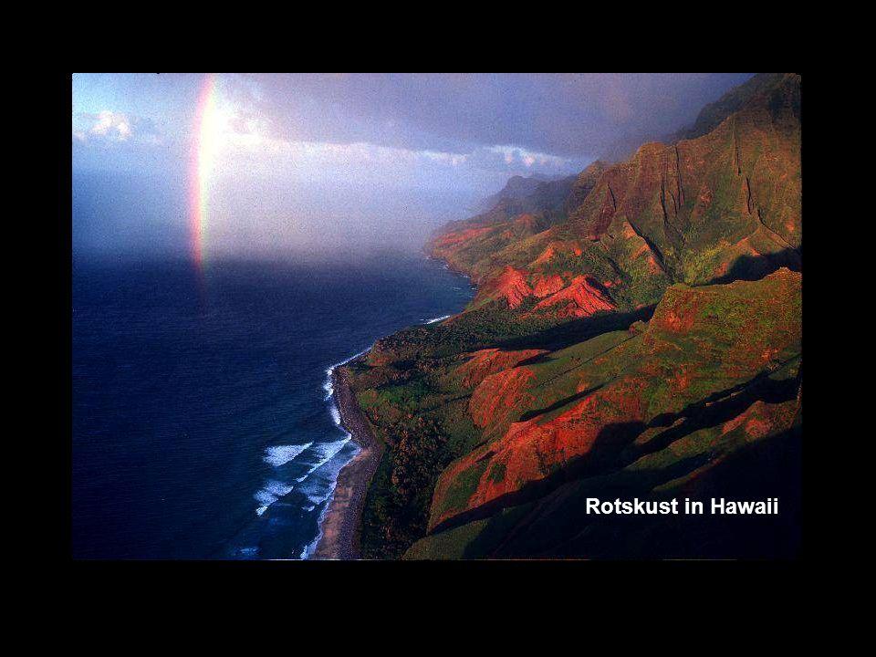Rotskust in Hawaii