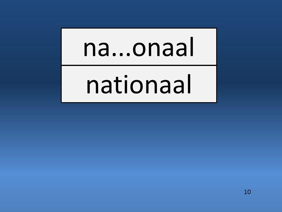 na...onaal nationaal 10
