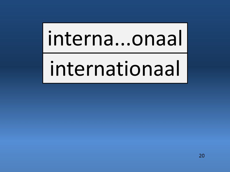 interna...onaal internationaal 20