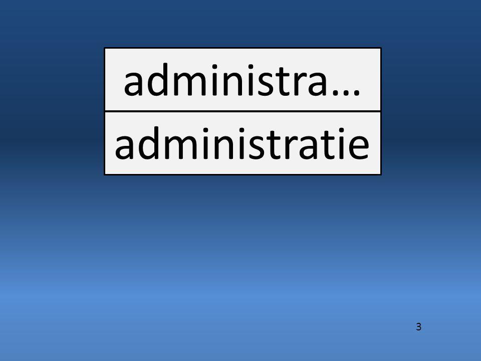 administra… administratie 3