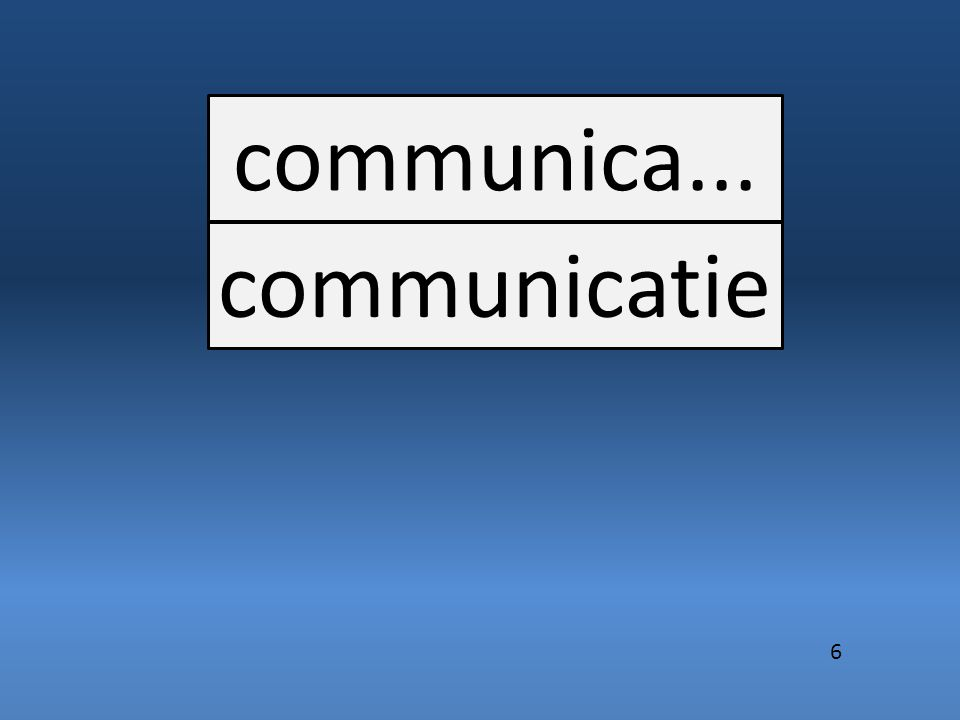 communica... communicatie 6