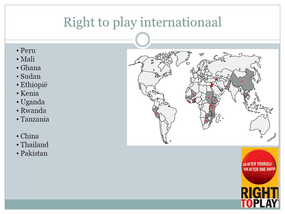 Right to play internationaal Peru Mali Ghana Sudan Ethiopië Kenia Uganda Rwanda Tanzania China Thailand Pakistan