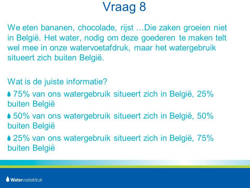 Vraag 8 We eten bananen, chocolade, rijst …Die zaken groeien niet in België.