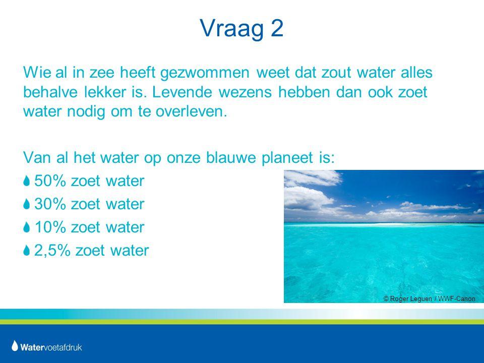 Vraag 2 Wie al in zee heeft gezwommen weet dat zout water alles behalve lekker is.
