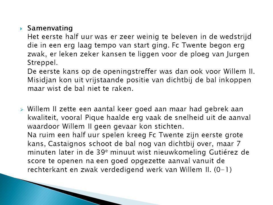  Willem II was totaal van de wereld na de openingstreffer en dat leidde al snel tot de 0-2.